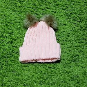 Other - Pink Double Pom Pom Hat
